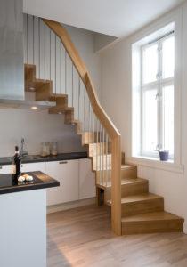 Foldetrapp - Hvit pigmentert-0